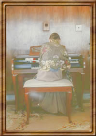 The mother Playing Organ